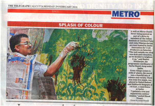 Mr. Neelchand with his Art